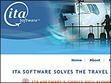 Imagen de la página de ITA