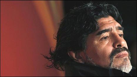 Diego Maradona, pelatih timnas Argentina