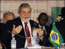 Lula discursou na Cúpula Brasil - Comunidade Econômica dos Estados da África Ocidental (Foto: Ricardo Stuckert/ Presidência da República)