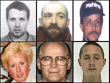 Fugitivos buscados por la Interpol