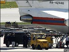самолет, на котором, вероятно, в Вену прибыли российские заключенные