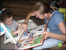 Логопед Татьяна со своим учеником