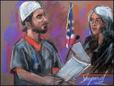 Фейсал Шахзад в зале суда