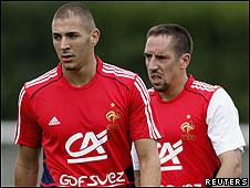 Franck Ribéry y Karim Benzema