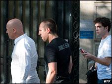Franck Ribéry al llegar al juicio.