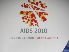 Logotipo da conferência sobre Aids em Viena