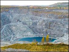 Mina de amianto en Canadá. Foto: Eve Belanger.