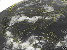 Fotografía satelital del Golfo de México.
