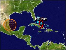 Tromenta tropical Bonnie.