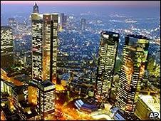 Centro financiero de Frankfurt.