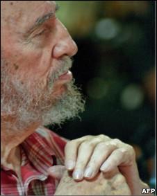 Fidel durante encontro com jovens cubanos