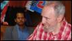 Fidel Castro durante encontro com jovens cubanos