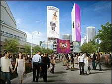 Torres anuncio de Miami (Foto: City Square Miami)