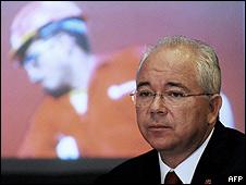 Rafael Ramirez, ministro de energía y petróleos de Venezuela (foto archivo)