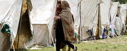 Flood relief camp in Pakistan