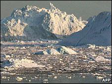 Glaciar en la costa oeste de Groenlandia.