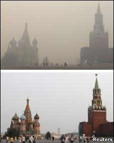 Кремль в дымке