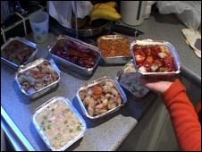 英國某中餐外賣店的食品