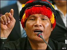 Um dos fundadores do partido indígena no Peru