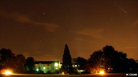 Meteor jatuh di Oxford, Inggris