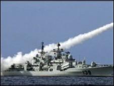 Trung Quốc tập trận ở Biển Đông