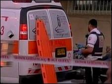آمبولانس اسرلائیلی در نزدیکی سفارت ترکیه
