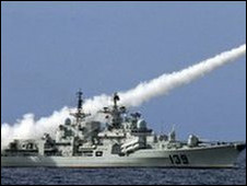 Militer Cina menguji misil di Laut Cina Selatan