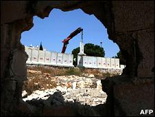 Derribo del muro entre Israel y Cisjordania