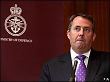 Liam Fox, ministro de Defensa Británico