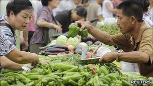 Chợ rau quả Bắc Kinh
