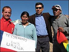 Familiares de Carlos Mamani