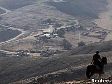 Vista de la mina San José