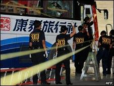 菲律宾警察调查劫持事件