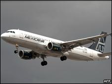 Avión de Mexicana de Aviación.