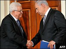 Mahmoud Abbas y Benjamín Netanyahu