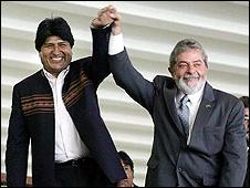 Evo Morales y Lula da Silva