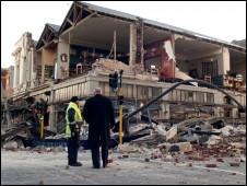 新西兰南岛地震造成破坏