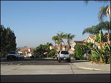 Sector residencial de Chula Vista, California