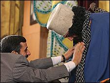 مراسم رونمایی از منشور کوروش (عکس از خبرگزاری فارس)