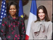 Michelle Obama y Carla Bruni