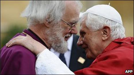 البابا مع الدكتور روان ويليامز