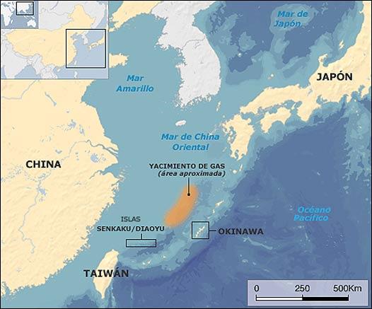 Mapa China y Japón
