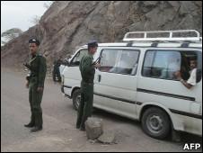 نقطة تفتيش في محافظة أبين