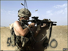 Soldado americano no Afeganistão