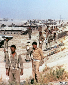 Soldiers during the Iran-Iraq war