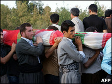 ضحايا انفجار مهاباد