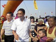 Zhan Qixiong, capitán de un pesquero chino a su llegada a Jinjiang