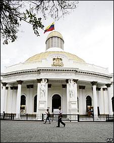 Imagen externa del Congreso de Venezuela