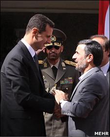 محمود احمدی نژاد و بشار اسد