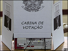 Urna electrónica en Brasil